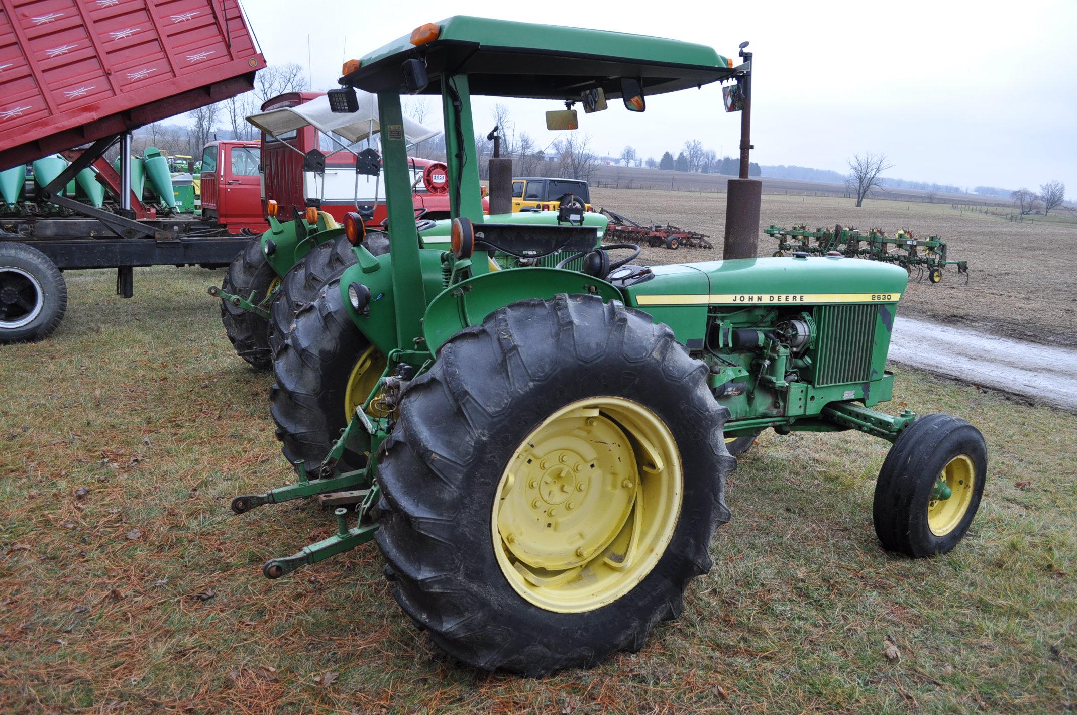 John Deere 2630 tractor, diesel, 16.9-28 rear, 9.5-15 front, 1 hyd remote, 540 pto, 3 pt, 4260 - Image 3 of 18