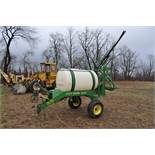 John Deere 535 pull-type sprayer, 350 gallon tank, 30' boom