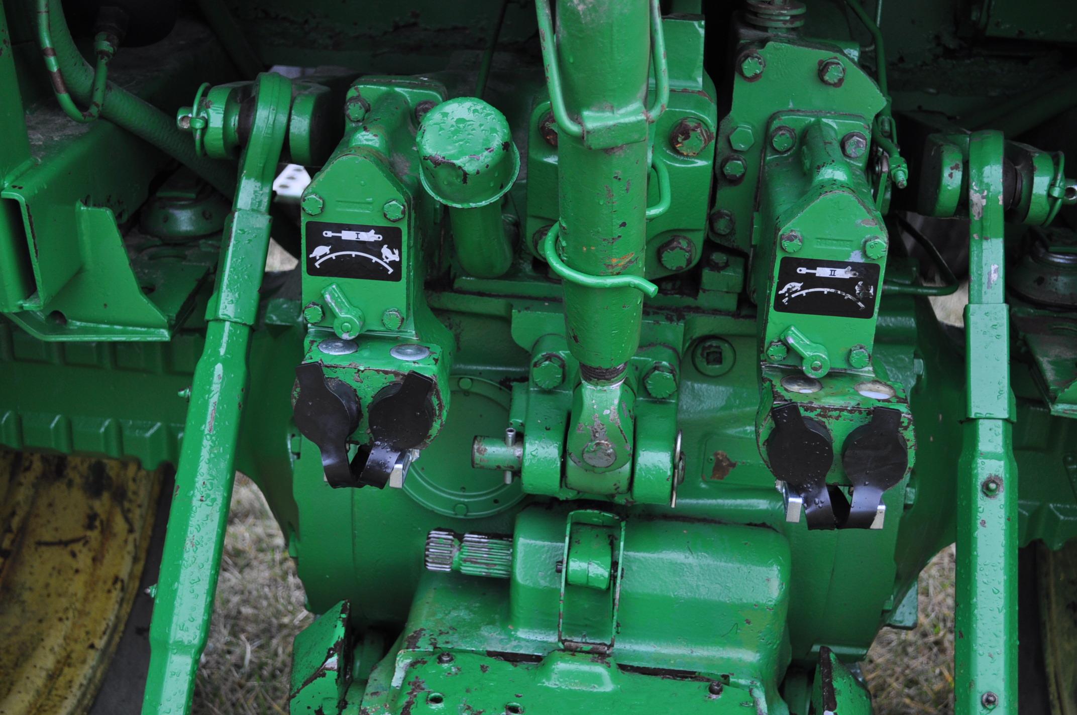 John Deere 4230 tractor, diesel, 18.4-34 hub duals, 10.00-16 front, CHA, Quad range, 2 hyd - Image 15 of 23