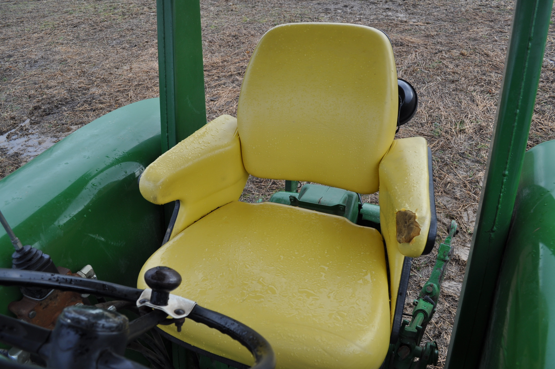 John Deere 4020 tractor, diesel, 18.4-34 tires w/ clamp on dual rims, 11L-15 front, ROPS w/ - Image 17 of 22