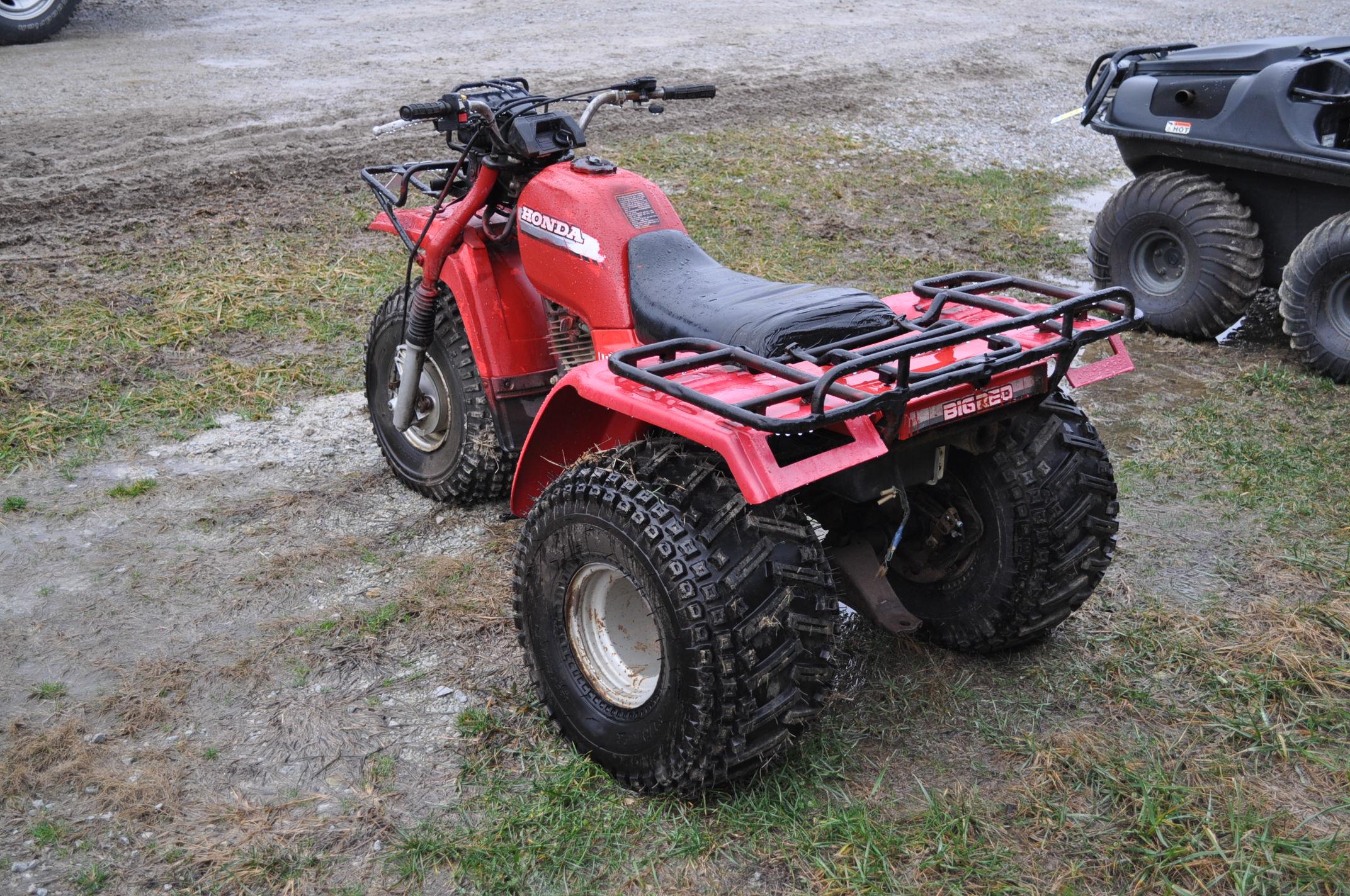 Honda Big Red 3-wheeler, new 25 x 12.00-9 tires - Image 2 of 8
