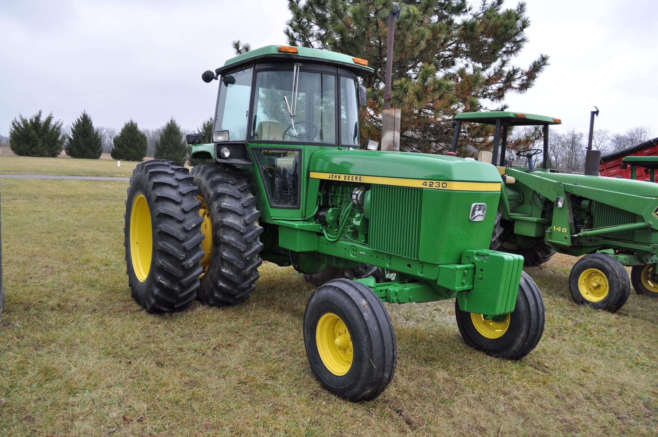 John Deere 4230 tractor, diesel, 18.4-34 hub duals, 10.00-16 front, CHA, Quad range, 2 hyd - Image 4 of 23