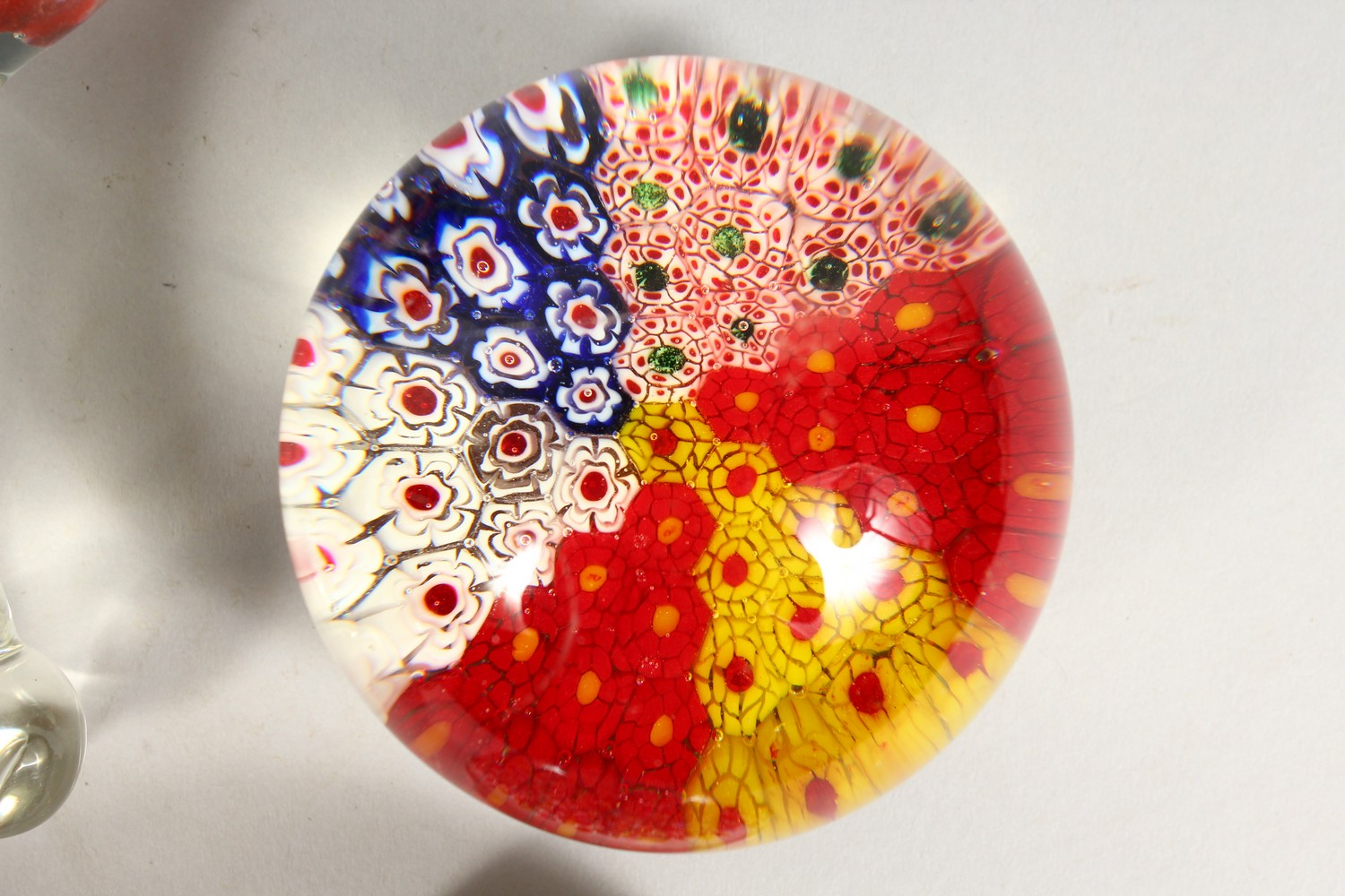 Lot 1083 - FIVE VARIOUS PAPERWEIGHTS.