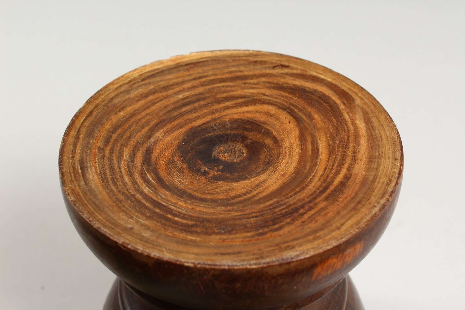 Lot 1511 - A 19TH CENTURY LIGNUM VITAE PESTLE AND MORTAR. Mortar: 7ins high.