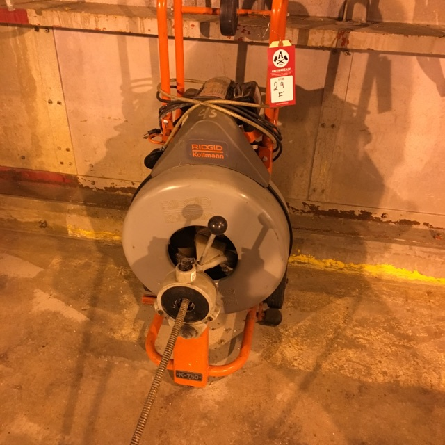 Lot 29F - Ridgid Kollman drum machine, model k-750, 1/2 hp