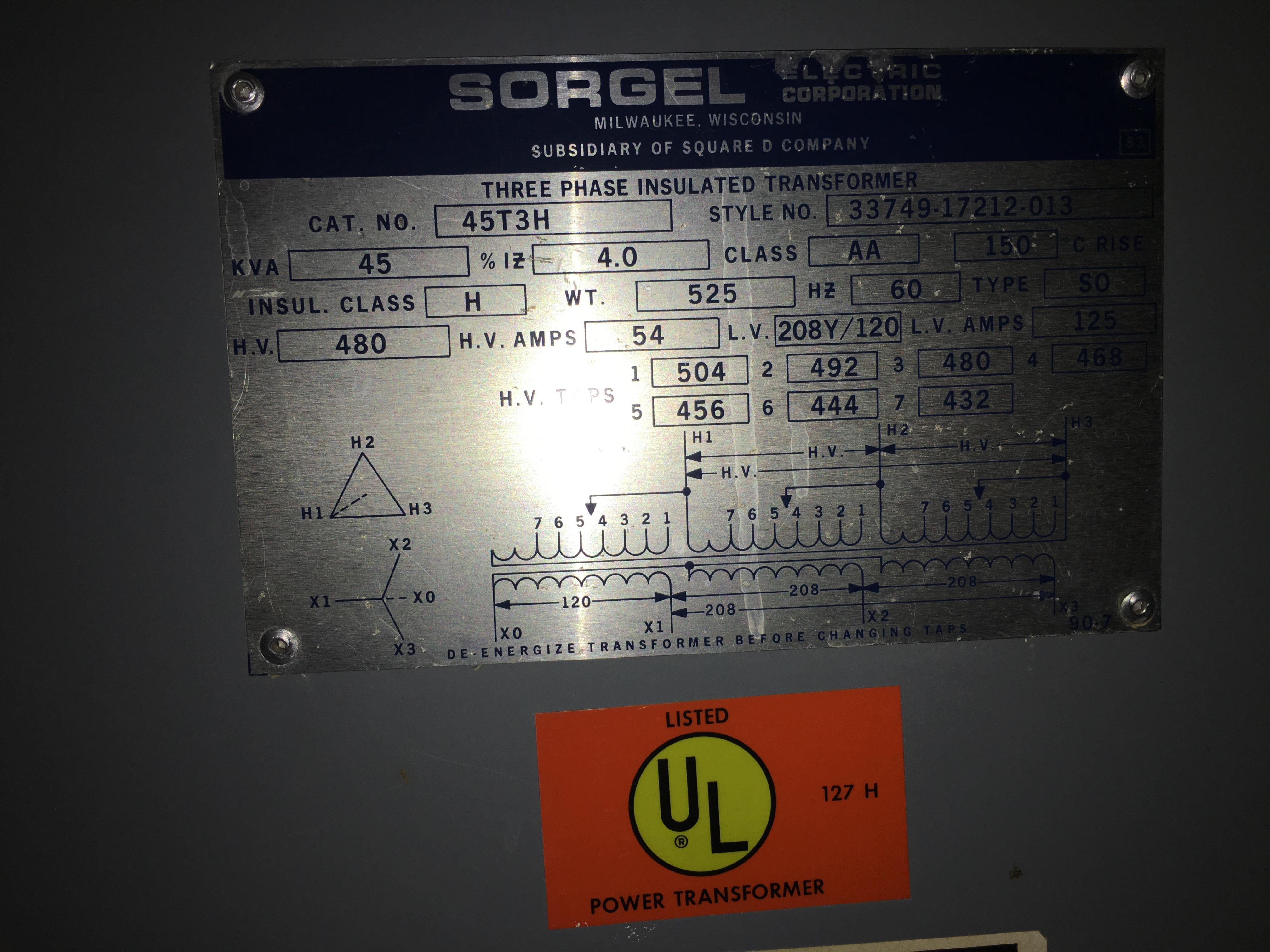 Lot 37C - 45 KVA transformer
