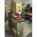 A Startrite 18-V-10 vertical bandsawing machine Serial number 108304 with BSO-16 blade welding