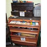 A large quantity of cutting tool blades and inserts, to include a mobile multi drawer cabinet, as