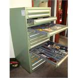 A steel lockable 16 drawer tool chest with a quantity of drilling, reaming and tapping tools, as