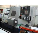 A CMZ TL20M bar fed CNC turning centre Serial number 1287 (2011) with Fanuc 32i A control and