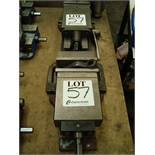 Two machine tool vices