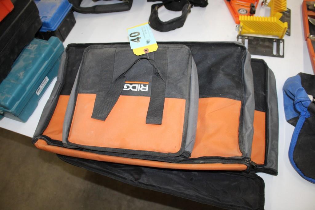 Lot 40 - (3) RIDGID TOOL BAGS
