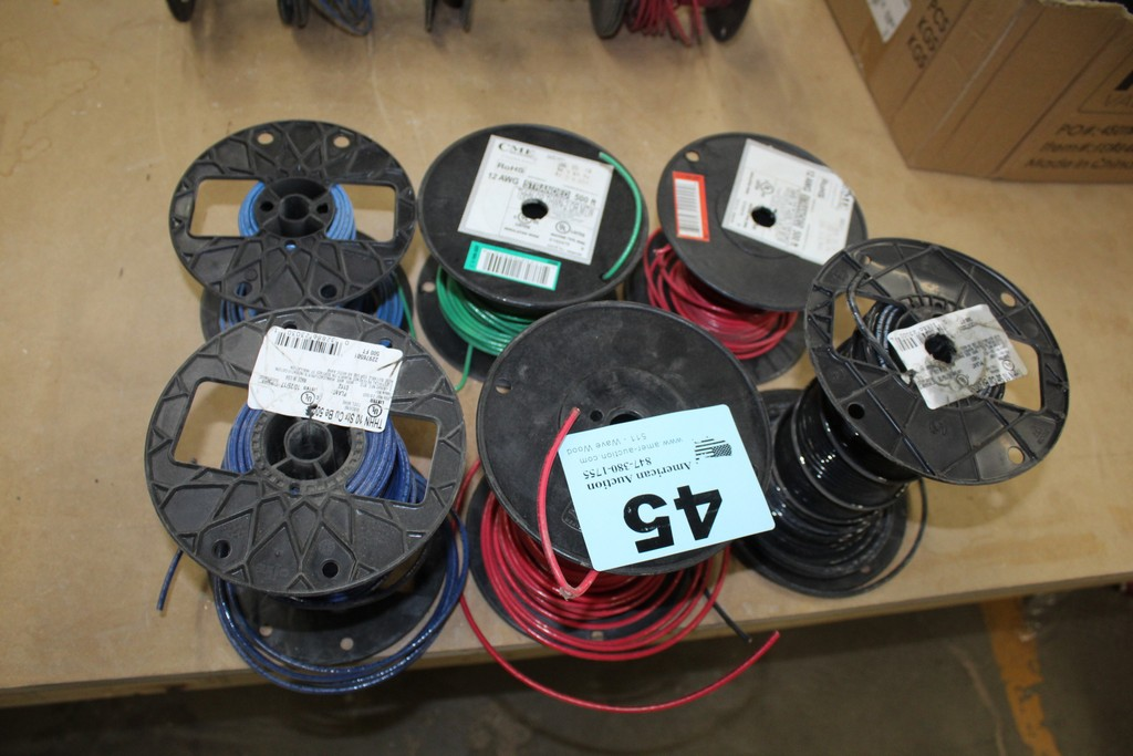 Lot 45 - (6) ROLLS OF ELECTRICAL WIRE 10 AND 12 AWG