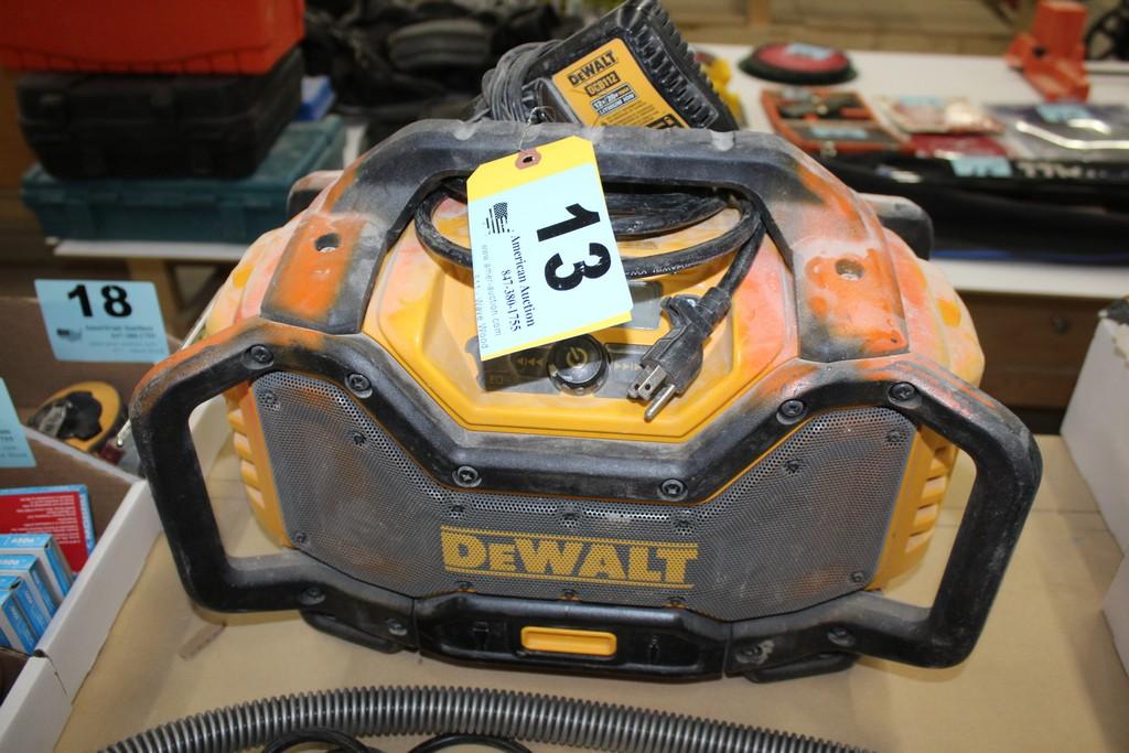 DEWALT RADIO WITH DEWALT DCB112 CHARGER (NO BATTERY)