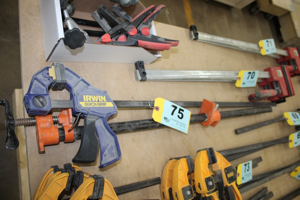 """(1) IRWIN QUICK GRIP 36"""" CLAMP AND (1) 30"""" PIPE CLAMP"""