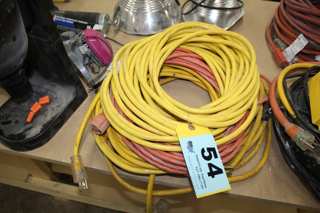 Lot 54 - ASSORTED HEAVY DUTY EXTENSION CORDS