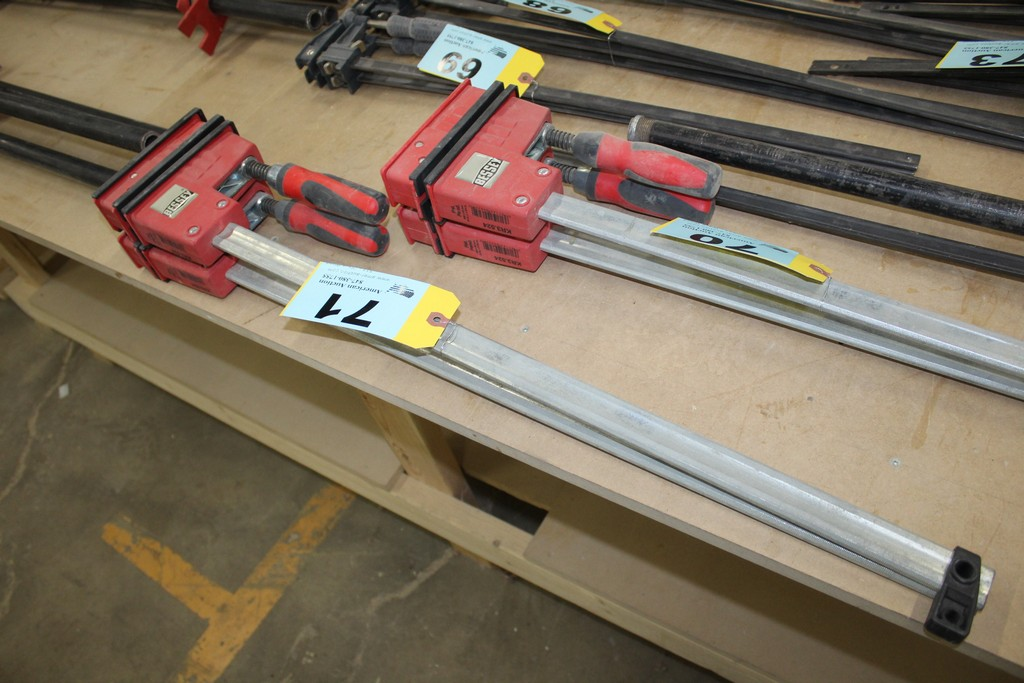 """(2) BESSEY 24"""" BAR CLAMPS"""