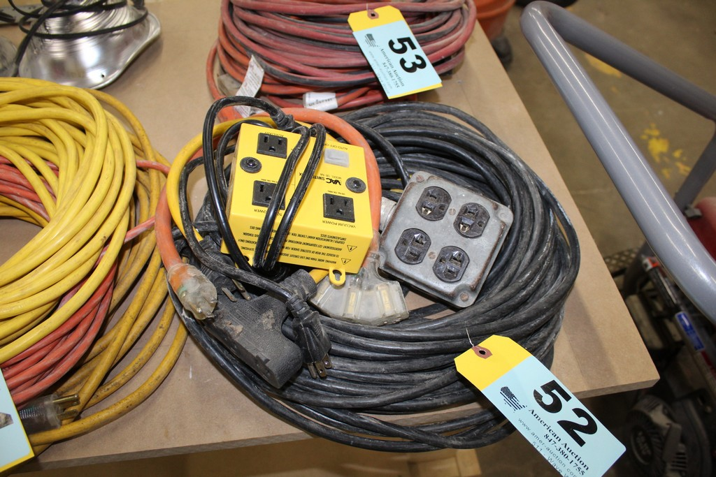 Lot 52 - ASSORTED HEAVY DUTY EXTENSION CORDS
