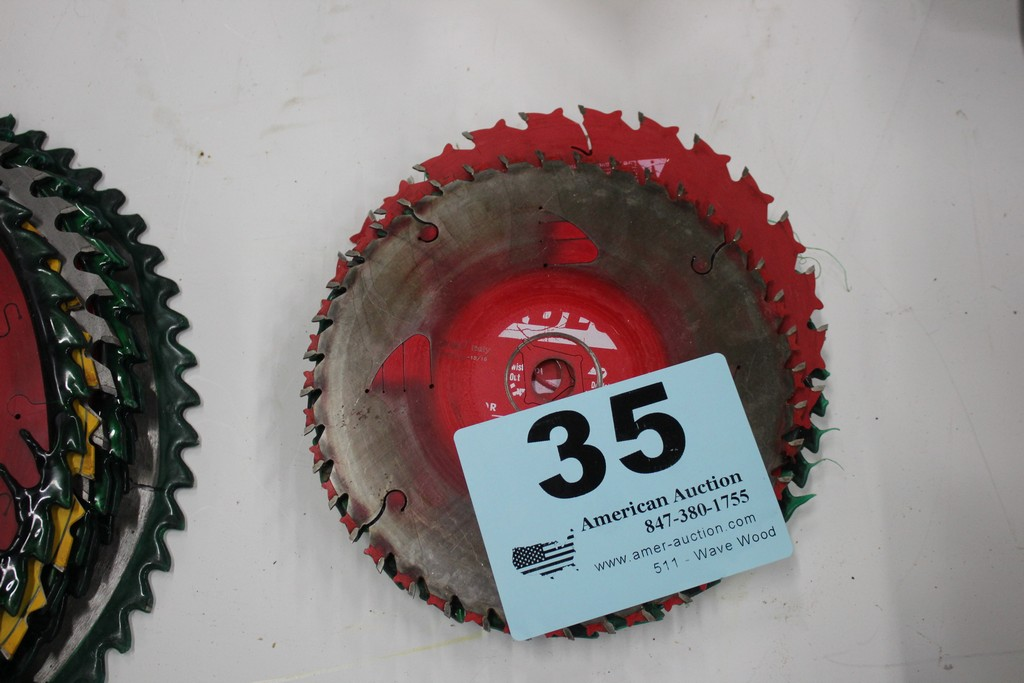 "ASSORTED 7 1/4"" SAW BLADES"