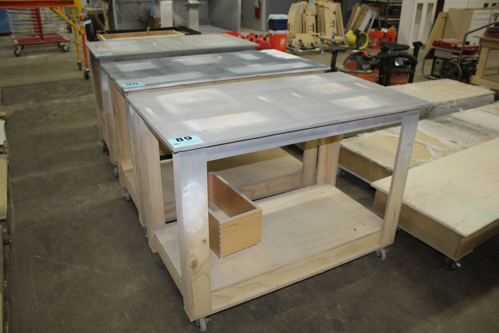 "PORTABLE WOOD TABLE 48"" X 26"" X 35"""