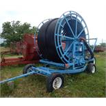 LONG PULL-BEHIND IRRIGATION HOSE REEL
