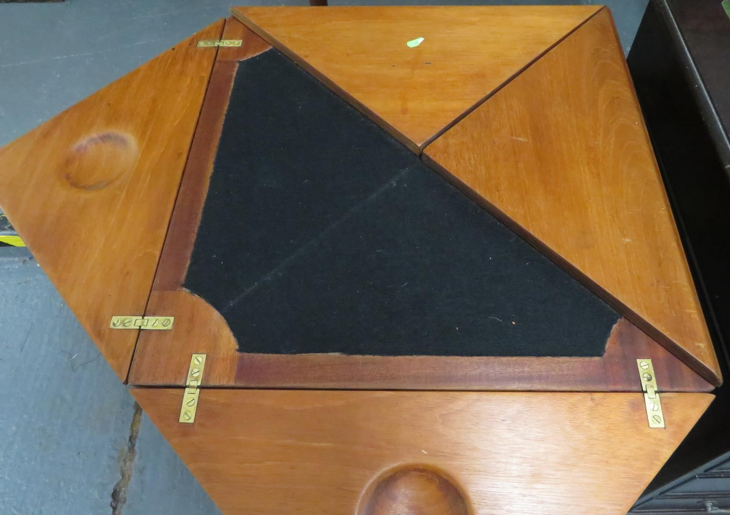 Lot 39 - Triangulated card table