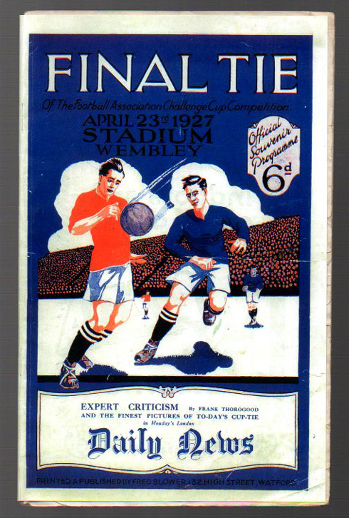 Lot 2 - FA Cup Final Football Programme: Arsenal versus Cardiff City April 23rd 1927. Replacement cover,
