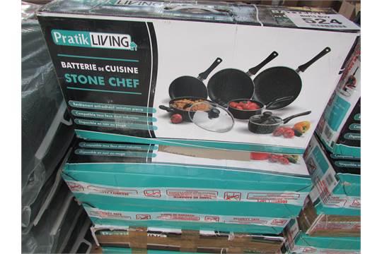 5x Pratik Living 8 Piece Pan Set