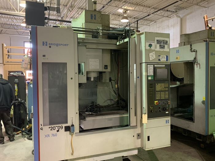 "Lot 8 - HARDINGE BRIDGEPORT XR760 VMC PRODUCTION CENTER 30""X24""X24"", YEAR 2007, INSTALL IN 2010, SN 310D418"