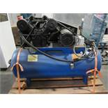 RECIPROCATING AIR COMPRESSOR, SPEEDAIRE MDL. 5Z402B, 10 HP motor, 2-stage, S/N 042094L853653. (