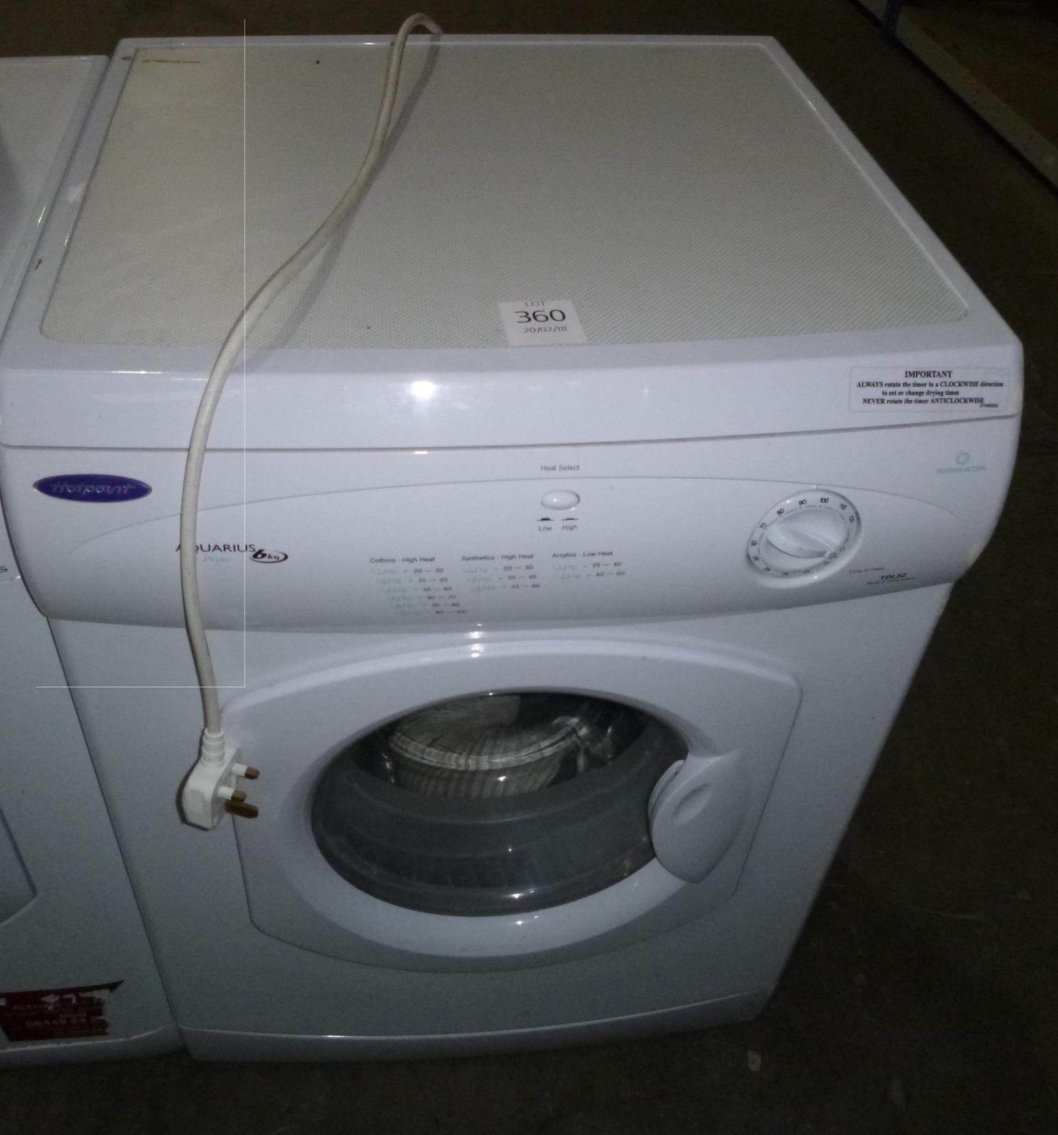 Tumble Dryers Espanol ~ A hotpoint aquarius kg tdl tumble dryer