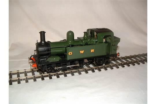 O Gauge Scorpio Kit built Brass GWR Green Class 14XX 0-4-2T  Mashima