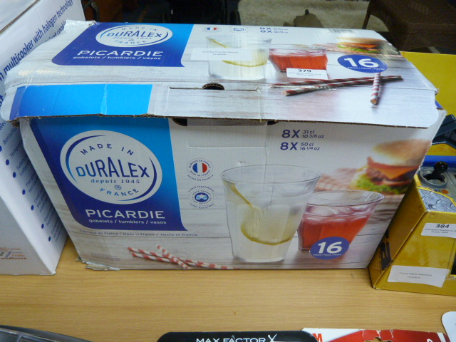 Lot 379 - *Duralex Picardie Glasses
