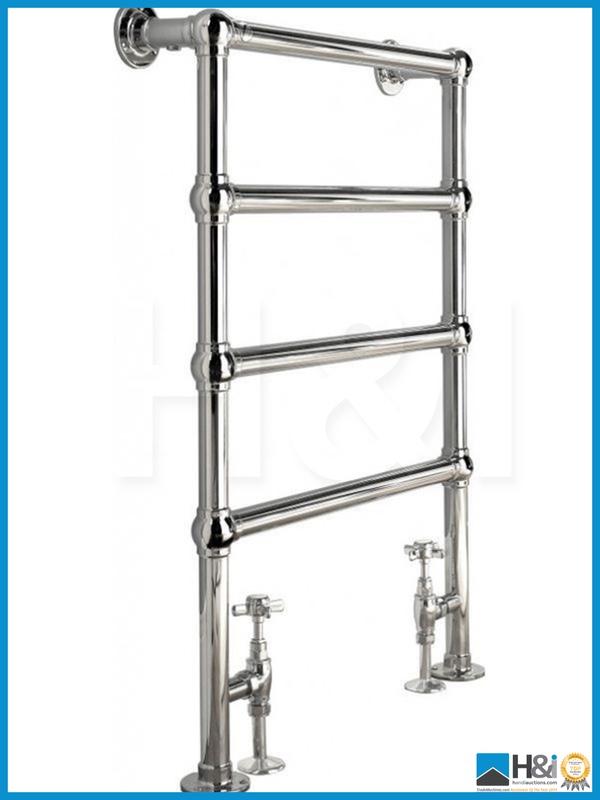 Bathroom Wall Floor Joint : Vogue ballerina ball joint floor wall towel rail chrome