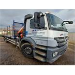 Mercedes AXOR 2529L flatbed lorry with Atlas 105.2-3 Hiab