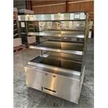 Counterline Three Deck Stainless Steel Heated Display Cabinet