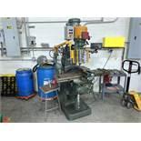"Bridgeport Vertical Milling Machine, Knee Type, 2Hp, 9"" x 48"" T-Slot Table with Power Cross Feed,"