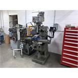 "Bridgeport Vertical Milling Machine, Knee Type, 1Hp, 9"" x 42"" T-Slot Table, Newall Topaz Mill"