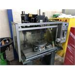 Dumore Series 28 Dual Head Automatic Drill-N-Tapping Center, Bench Mounted with Protective Guarding