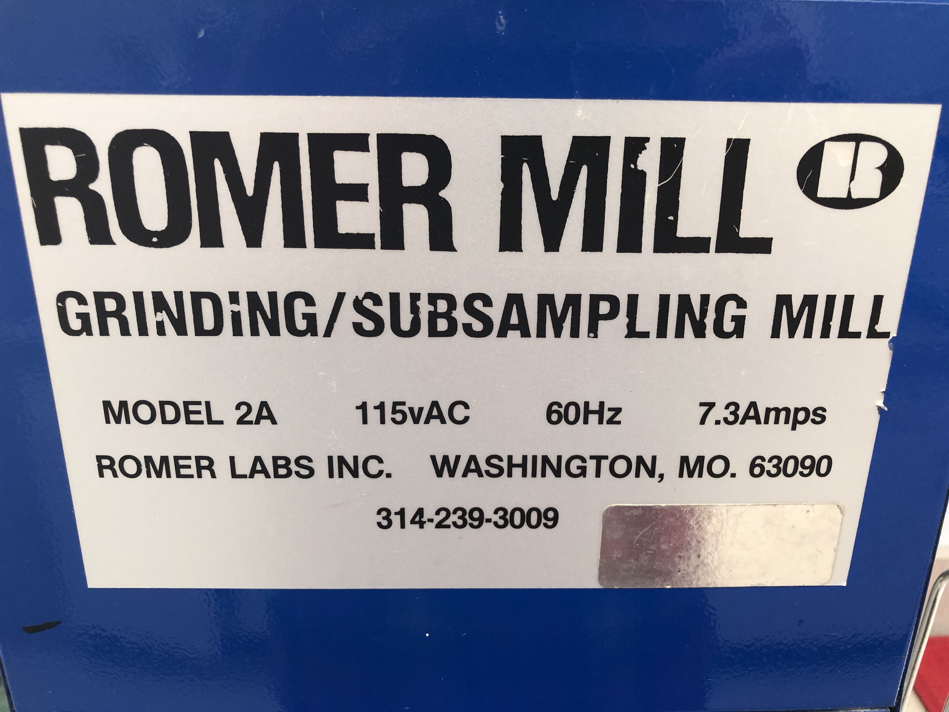 Romer Mill Grinding / Subsampling Mill, Model# 2A - Image 2 of 3