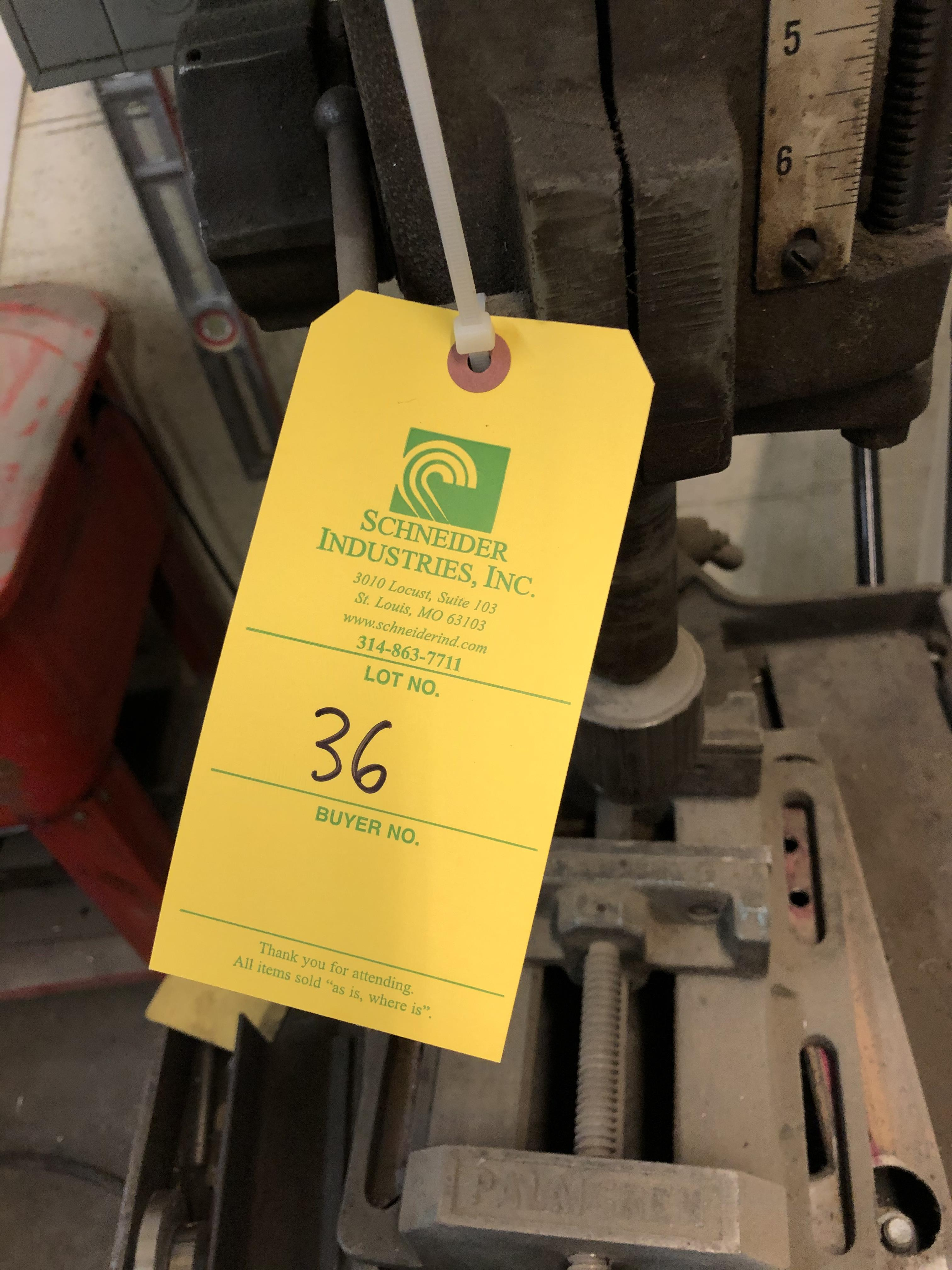 Clausing Drill Press, Model# 2274, Serial# 511519, 208-220/440V - Image 5 of 5