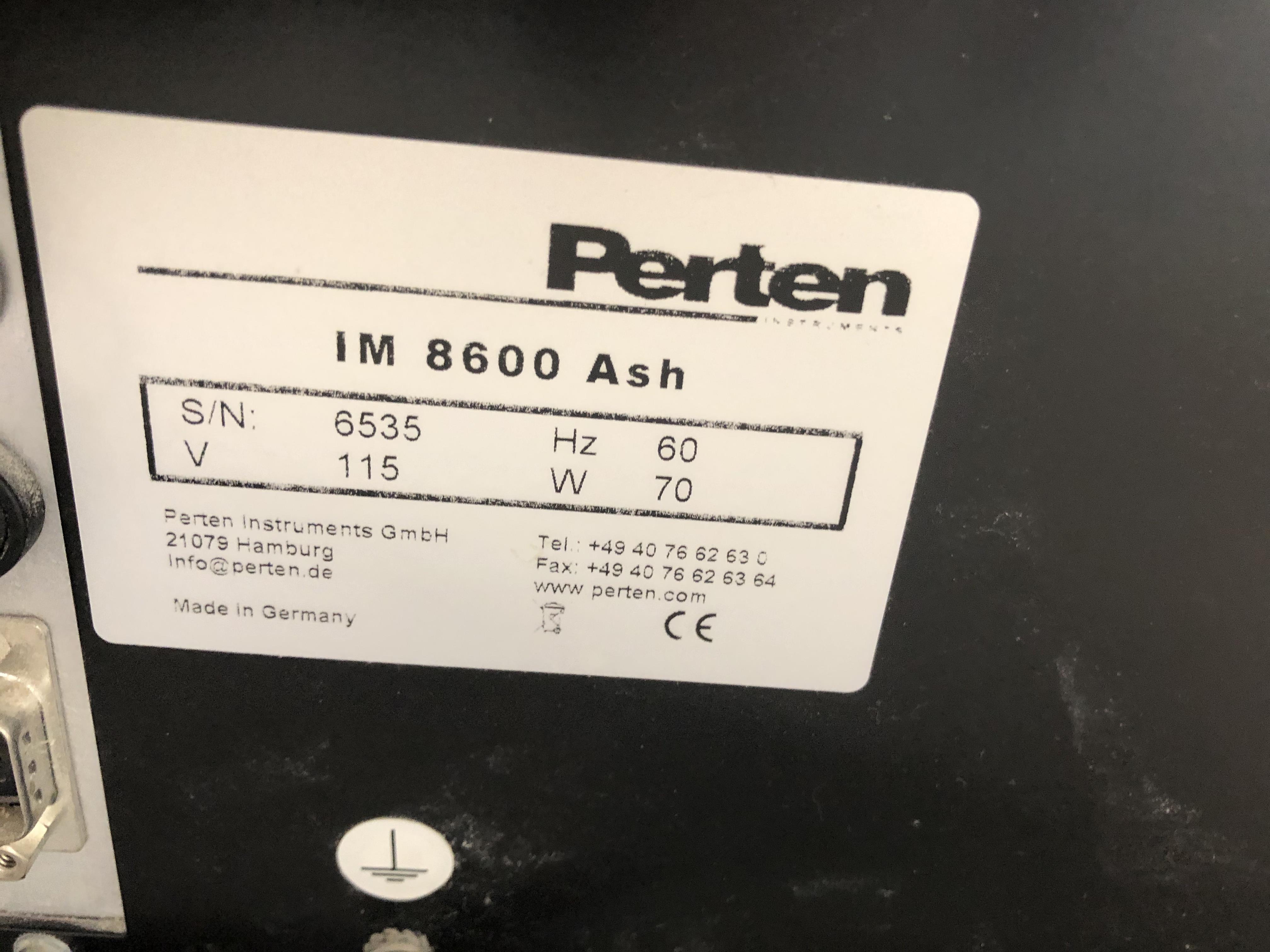 Perten IM 8600 Ash, Serial# 6535 - Image 2 of 3