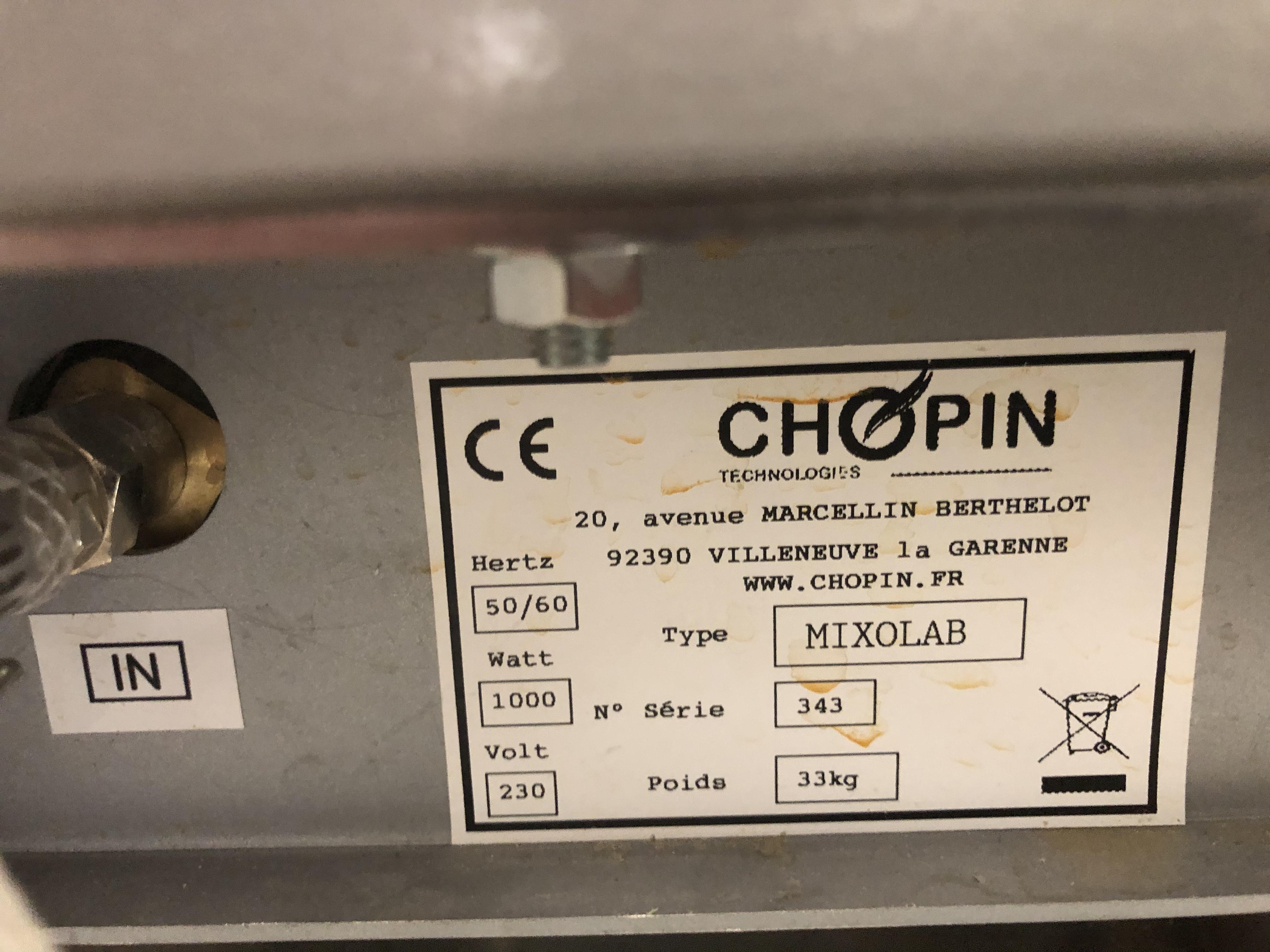 Chopin Mixolab, Serial# 343 - Image 2 of 3