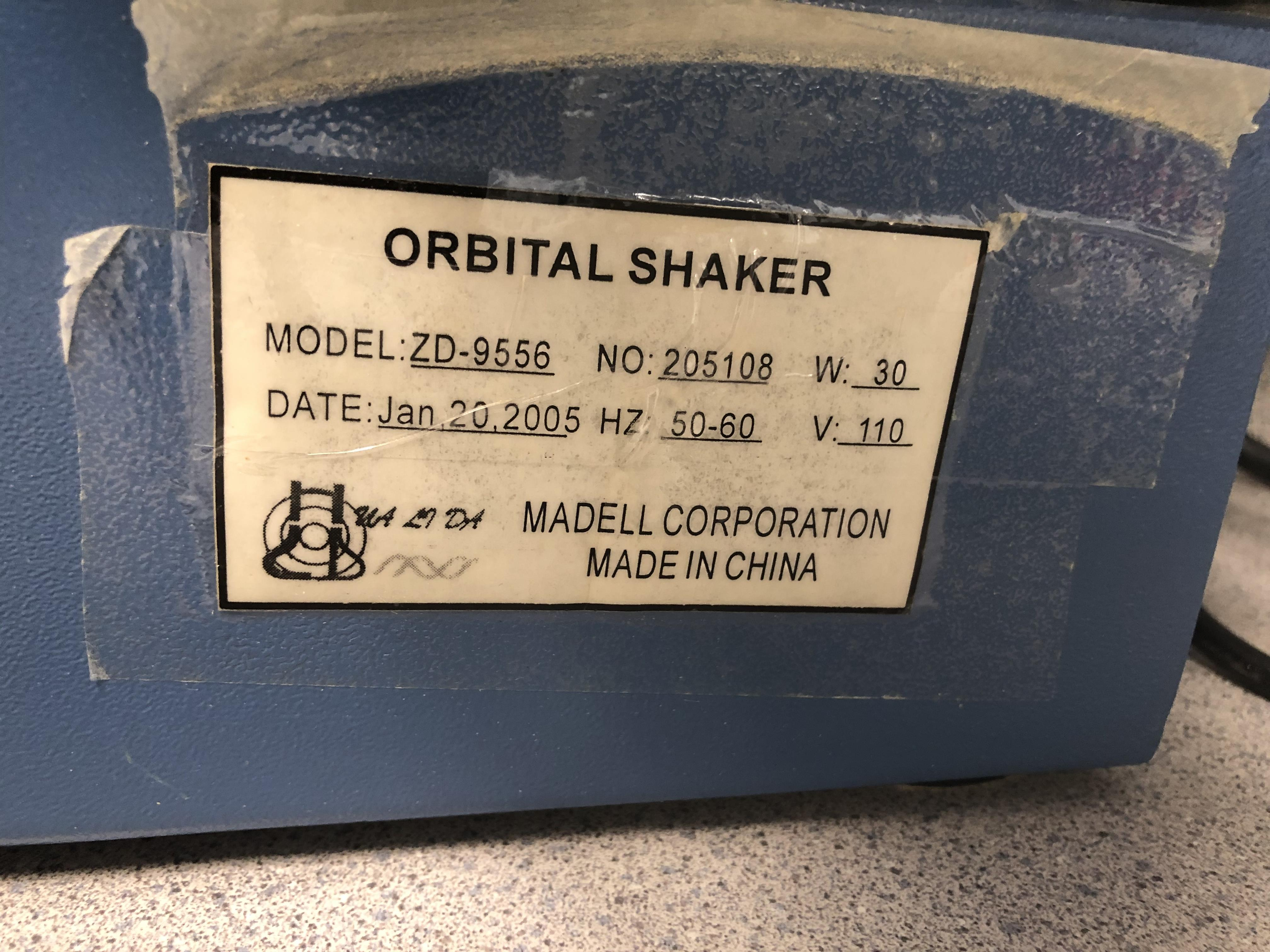 Madell Corporation Orbital Shaker, Model# ZD-9556, Serial# 205108 - Image 3 of 4