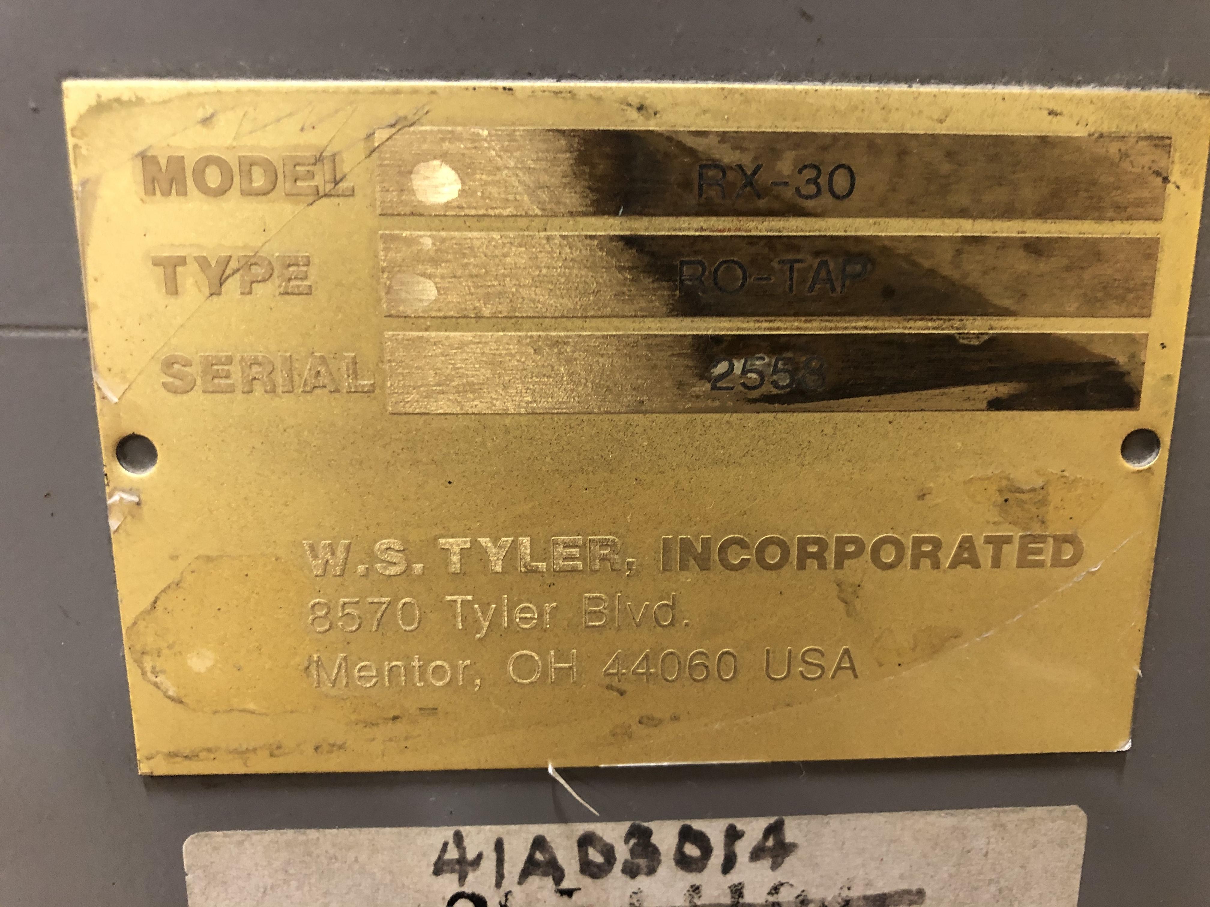 W.S. Tyler Inc Shaker, Model# RX-30, Type RO-TAP, Serial# 2558 - Image 3 of 4