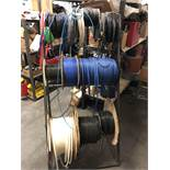 Miscellaneous Spools of Wire and Rack