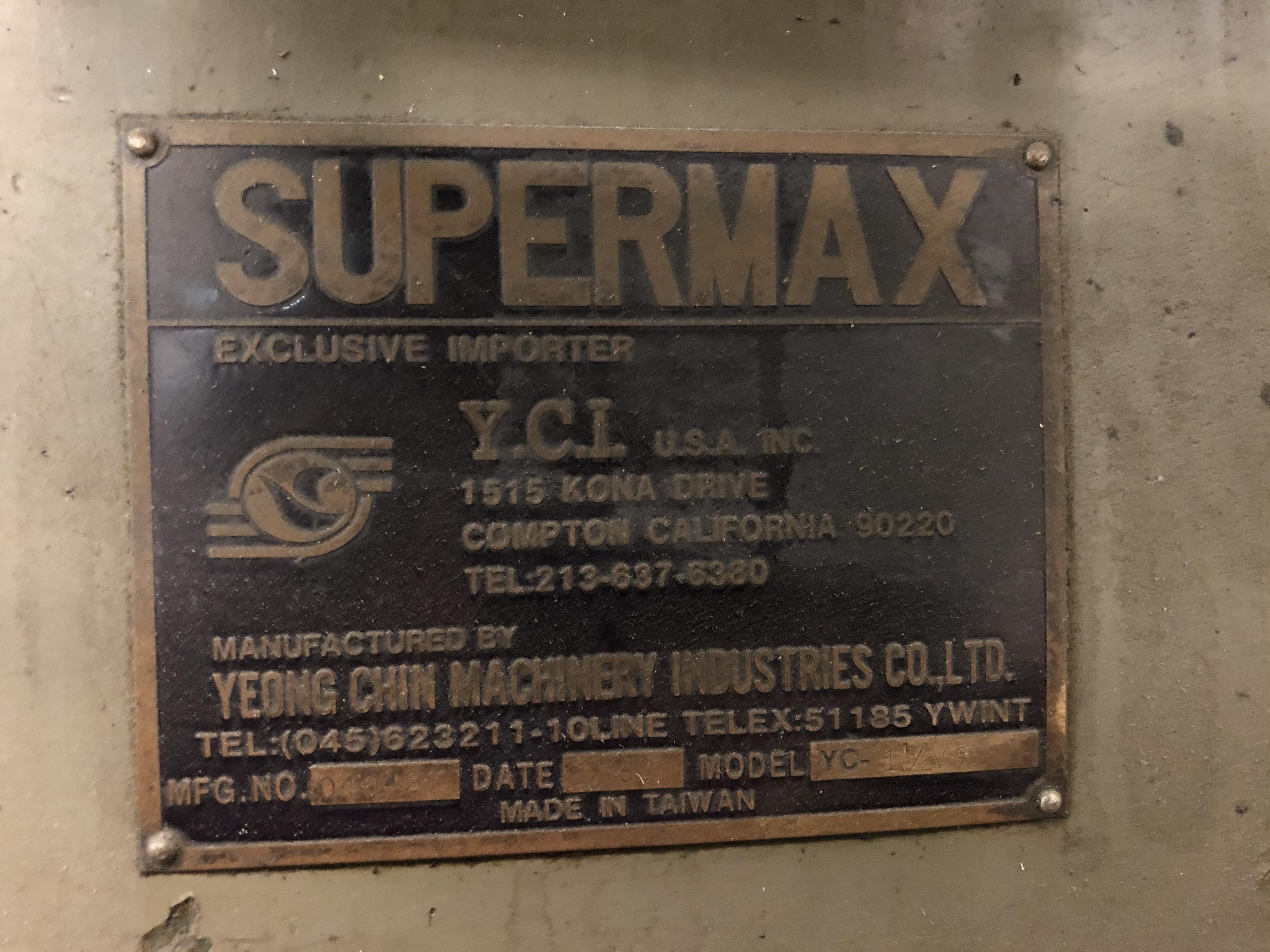 5 HP SUPERMAX HORIZONTAL/VERTICAL RAM TYPE MILL - Image 3 of 5