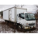 Lot 12 - 2008 MITSUBISHI FUSO FK260 STRAIGHT TRUCK, DIESEL, 6-SPD. MAN. TRANS., DUAL WHEELS, 24' VAN BODY,