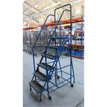 Mobile Racking Ladders/Steps, 6-tread