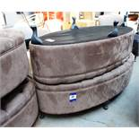 Pair of padded Pouffe/Seats, velour finish